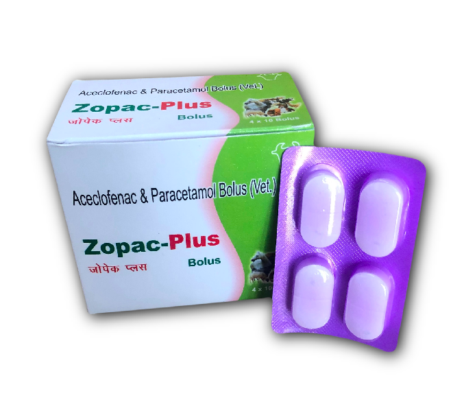 Aceclofenac & Paracetamol Veterinary Bolus