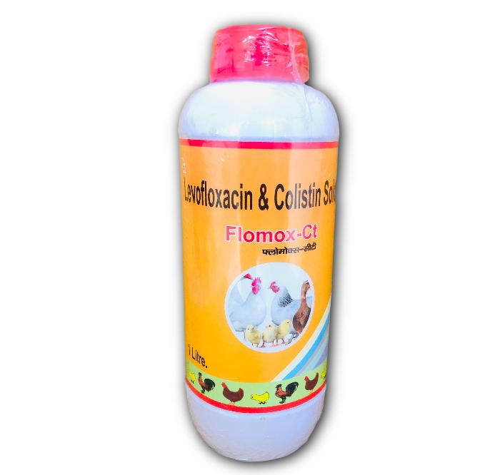 Levofloxacin 10% + Colistin Sulphate 1.5 % Poultry Liquid