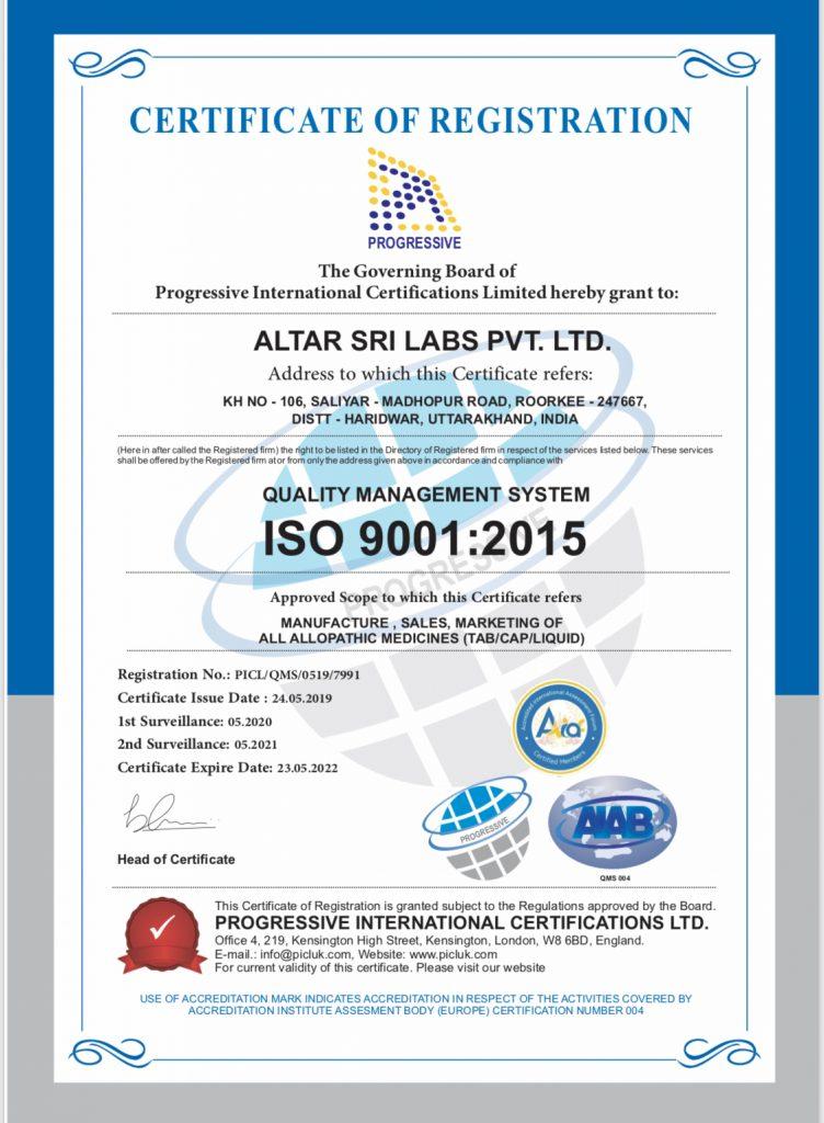 Altar Sri Labs ISO